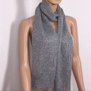 NWT Theory Silver Ice Starr Mode Scarf Retail $125